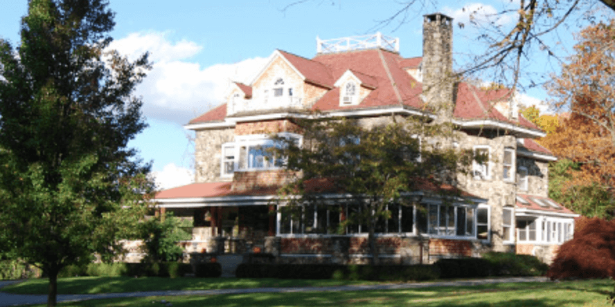 large stone house on organically maintained grounds chappaqua westchester ny
