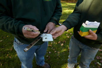 peter deluca and son doing onsite soil pH test for organic assessment bedford hills westchester ny