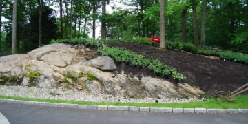 organically landscaped hillside armonk ny westchester county
