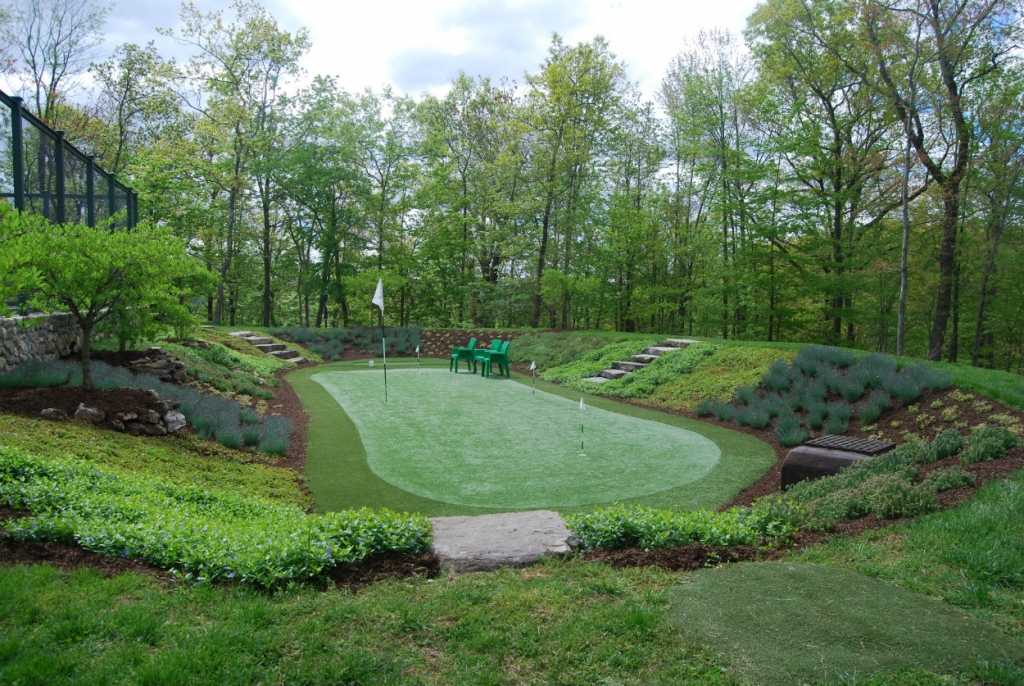 organic landscaping around putting green westchester ny fairfield ct